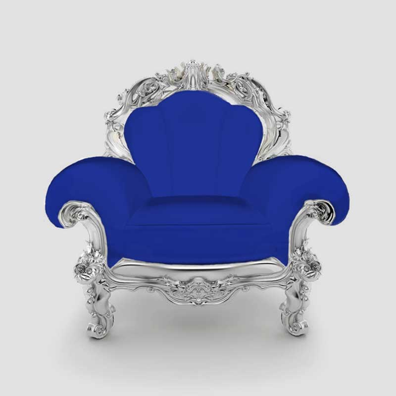 Ornate armchair that looks like a throne